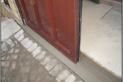 side hinged garage door open