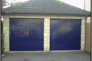 two separate garage doors before being converted to one