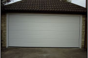 white garage door for two car garage